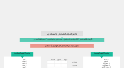 alhijri.com - تحويل التاريخ هجري ميلادي تاريخ اليوم تحويل التقويم الهجري الميلادي