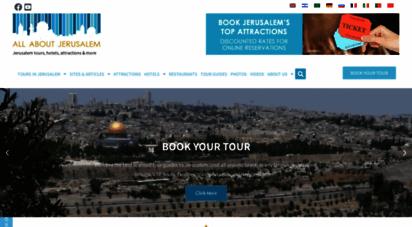 allaboutjerusalem.com - jerusalem photos, attractions, videos, events, tours, hotel, restaurants, tour guides, museums & more...