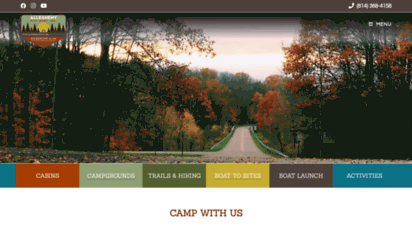 alleghenysite.com - allegheny site management  allegheny national forest  bradford, pa  rv camping, tents, cabins, boat rentals