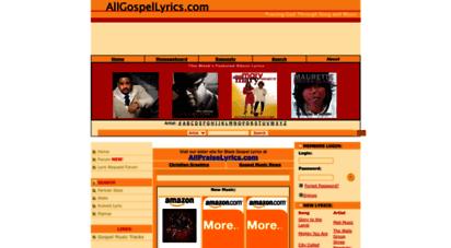 allgospellyrics.com - gospel lyrics, black gospel lyrics, istian lyrics- allgospellyrics.com