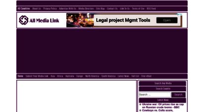 allmedialink.com - online newspapers, live tv channels, radios » world media directory