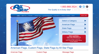 allstarflags.com - american flags, custom flags, state flags by all star flags