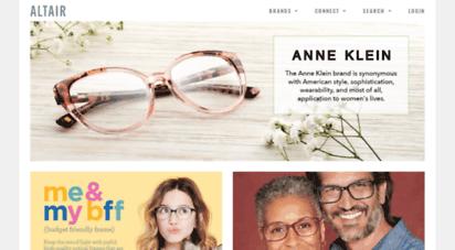 altaireyewear.com - altair eyewear: home consumer