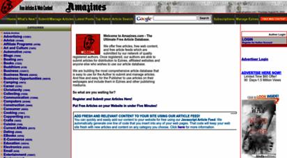 amazines.com - free articles at amazines.com - author publishing and free article database
