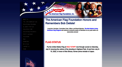 americanflagfoundation.org - the american flag foundation  focused on the american flag