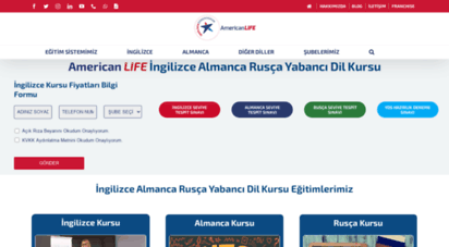 americanlife.com.tr - american life dil okulları ingilizce almanca rusça yabancı dil kursu