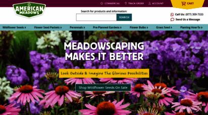 americanmeadows.com - wildflower seeds, flower bulbs, perennials