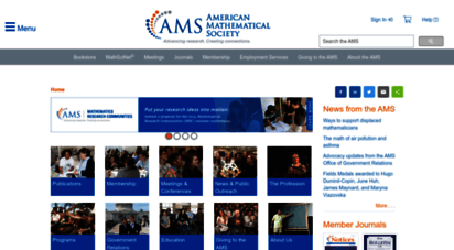 ams.org - american mathematical society :: homepage