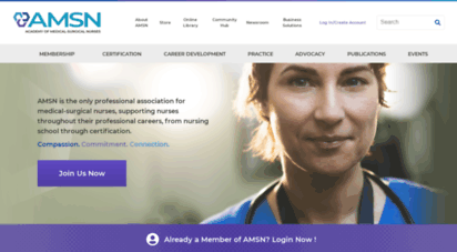 amsn.org - home  academy of medical-surgical nurses amsn