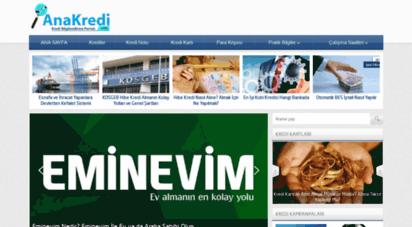 anakredi.com - bankalar & krediler - bankalar ve krediler hakkında her şey