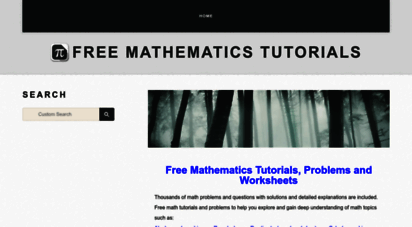 analyzemath.com - free mathematics tutorials, problems and worksheets