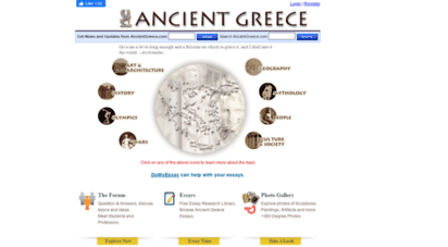 ancientgreece.com - ancient greece - history, mythology, art, war, culture, society, and architecture.