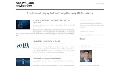 andrewjprokop.wordpress.com - tao, zen, and tomorrow  a multimodal blog by andrew prokop formerly sip adventures