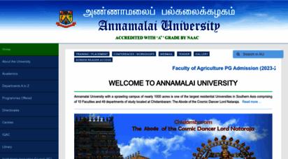 similar web sites like annamalaiuniversity.ac.in