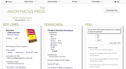 anonpress.org - anonymous press - alcoholics anonymous books, software, phone numbers, faq & aa big book® index