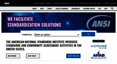 similar web sites like ansi.org