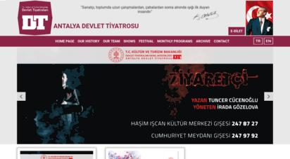 antalyadt.gov.tr - antalya devlet tiyatroları resmi web sitesi