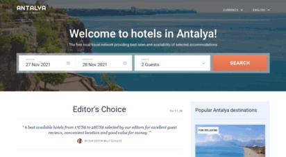 antalyahotel.org - antalya hotels & apartments, all accommodations in antalya