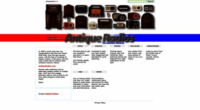 antiqueradios.com - antique radios - the collector´s resource