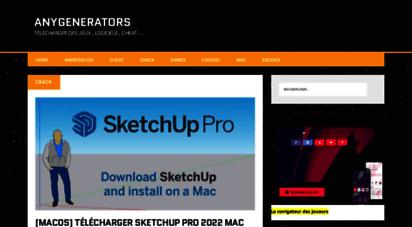 anygenerators.com - anygenerators = jeux + softwares + apps + plus ...