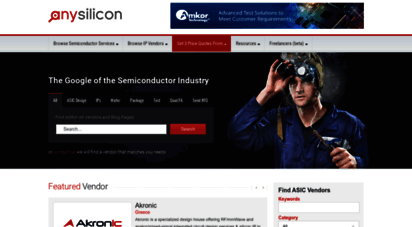 anysilicon.com - find asic design companies, ic design houses and service providers - anysilicon