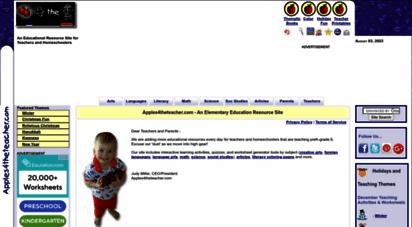apples4theteacher.com - apples4theteacher.com - elementary education teacher resources
