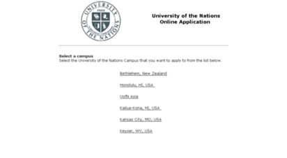 welcome to apply uofn edu university of the nations online application