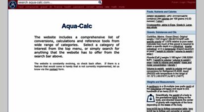 aqua-calc.com