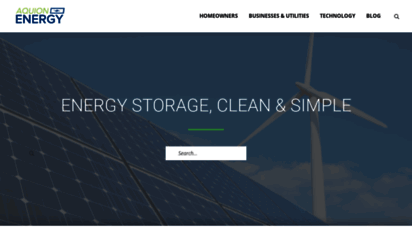 Welcome to Blog aquionenergy com - Solar Energy Storage Blog