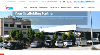 Welcome to Arabianspar com - Scaffolding Contractor in Saudi