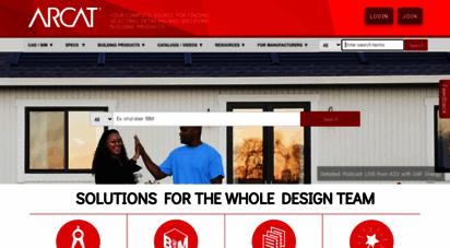 arcat.com - arcat  free building product cad details, bim, specs and more