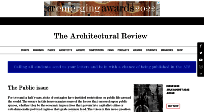architectural-review.com - the architectural review  online and print magazine about international design