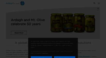 A global leader in packaging solutions Ardagh Group
