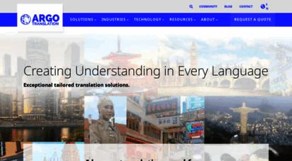 argotrans.com - translation services  certified translation services  argo translation