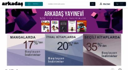 arkadas.com.tr - arkadaş kitabevi online: kitap, ithal kitap, film müzik oyun, tablo