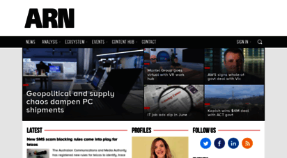 arnnet.com.au - arn - the voice of the australian it channel
