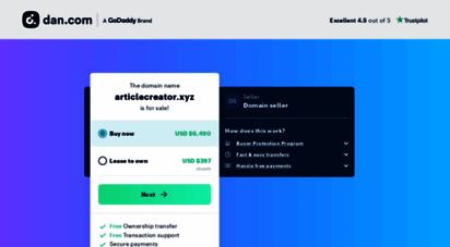 articlecreator.xyz - article generator, article builder, content generator, article creator