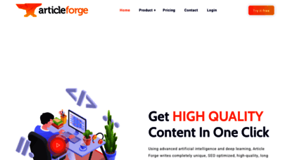 articleforge.com - high quality, ai-powered article creation - article forge