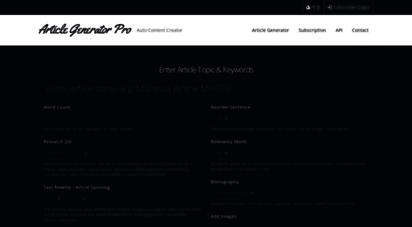 articlegeneratorpro.com - article generator pro: auto content creation tool