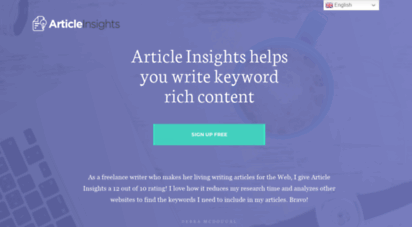 articleinsights.com - keyword expertise for your content — article insights