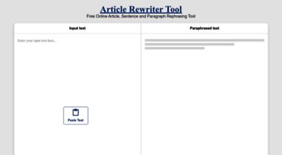 articlerewritertool.com - article rewriter tool - reword or paraphrase text content