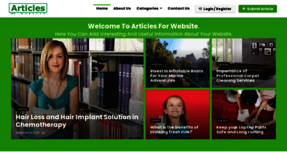 articlesforwebsite.com - articles for website : instant approval free news submission website