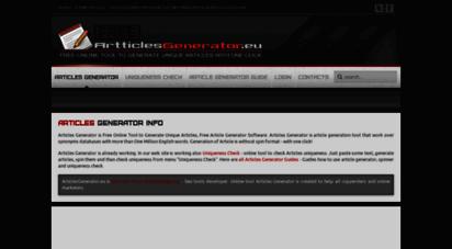 articlesgenerator.eu - articles generator online tool: best free article generation software