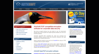 articsoftpgp.com - pgp encryption software, data security, openpgp corporate information security