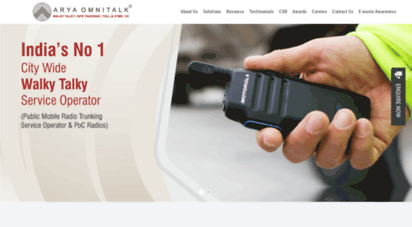 aryaomnitalk.com - vehicle tracking system  walkie talkie  buy walky talky  largest gps vehicle tracking solution provider in india india´s leading walkie talkie company