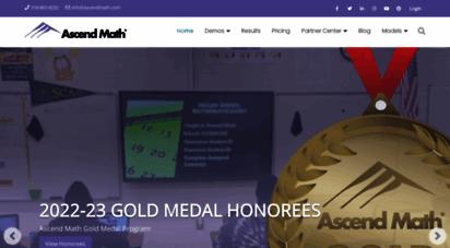 ascendmath.com - targeted learning & ssssment online  close math gaps now  ascend math