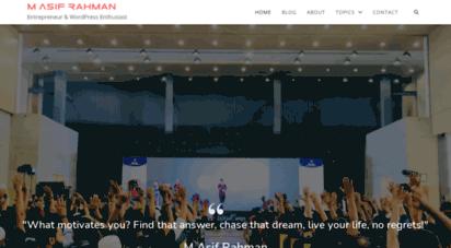 asif.im - m asif rahman - entrepreneur & wordpress enthusiast