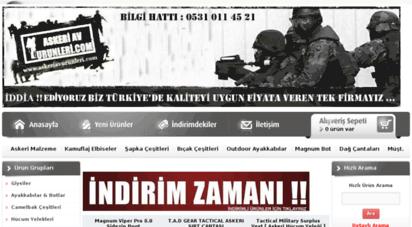 askeriavurunleri.com - askeriavurunleri.com, türkiye nin en büyük online outdoor ve askeri malzeme satış sitesi, askeri ürünler, askeri malzemeler, av, kamp, outdoor, adana amerikan pasajı