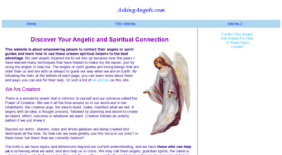 askingangels.com - ask angels for help with any request! contact your angels
