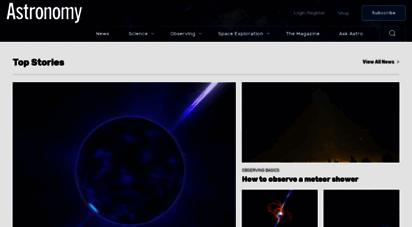 astronomy.com - astronomy magazine - interactive star charts, planets, meteors, comets, telescopes